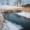 SBP 226<br /> <br /> Spring Brook flows quietly through Springbrook Prairie Nature Preserve on a winter afternoon.