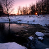 SBP 041<br /> <br /> Sunrise over Spring Brook Creek on a frigid winter morning.  Springbrook Prairie Nature Preserve, DuPage County, Illinois.