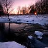 SBP 041<br /> <br /> Sunrise over Spring Brook Creek on a frigid winter morning.  Springbrook Prairie Nature Preserve, DuPage County, Illinois.