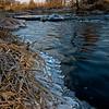 SBP 052<br /> <br /> A frigid sunrise on Spring Brook Creek, Springbrook Prairie Nature Preserve, DuPage County, Illinois.