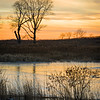 SBP 135<br /> <br /> A winter sunset on Crooked Slough.  Springbrook Prairie Nature Preserve, DuPage County, Illinois.