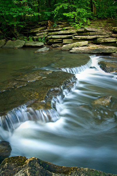WFG 030<br /> <br /> Sawmill Creek flows peacefully through Waterfall Glen Forest Preserve, DuPage County, Illinois.