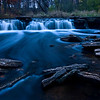 WFG 006<br /> <br /> Dusk at Rocky Glen Waterfall.  Waterfall Glen Forest Preserve, DuPage County, Illinois.