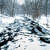 WFG 018<br /> <br /> Sawmill Creek on the verge of freeze-up.  Waterfall Glen Forest Preserve, DuPage County, Illinois.