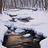 WFG 037<br /> <br /> Winter light reflected in Sawmill Creek.  Waterfall Glen Forest Preserve, DuPage County, Illinois.