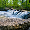 WFG 013<br /> <br /> Sawmill Creek spills over Rocky Glen Waterfall at Waterfall Glen Forest Preserve, DuPage County, Illinois.