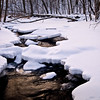 WFG 036<br /> <br /> Winter light reflected in Sawmill Creek.  Waterfall Glen Forest Preserve, DuPage County, Illinois.