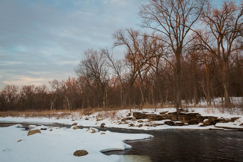 Warrenville Grove Winter Sunset