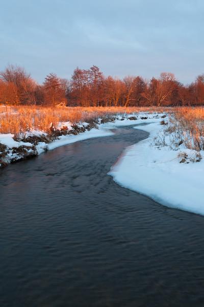 Springbrook Creek winter scene. Naperville, IL<br /> <br /> IL-100109-0143