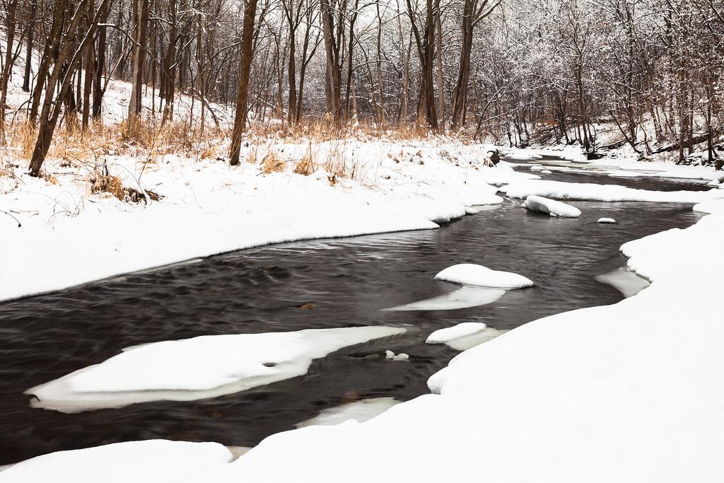 Sawmill Creek winter scene. Darien, IL<br /> <br /> IL-100222-0009