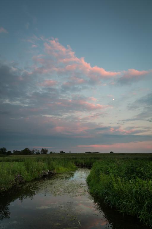 Summer sunset at Springbrook Prairie. Naperville, IL<br /> <br /> IL-120729-0055