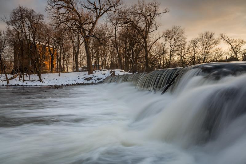 Salt Creek Falls in Winter