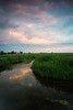 Summer sunset at Springbrook Prairie. Naperville, IL<br /> <br /> IL-120729-0042