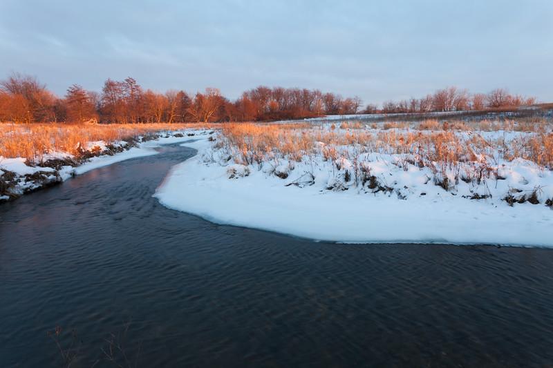 Springbrook Creek winter scene. Naperville, IL<br /> <br /> IL-100109-0140