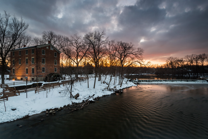 Winter Sunset at Graue Mill
