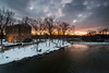 Winter Sunset at Graue Mill