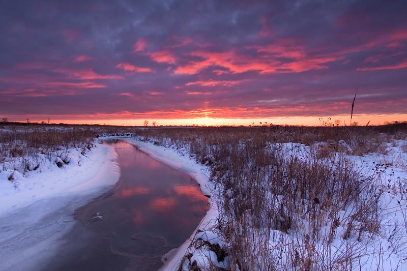 Springbrook Creek winter scene. Naperville, IL<br /> <br /> IL-100109-0155