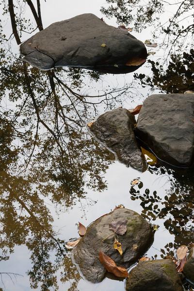 Fall reflection on Sawmill Creek. Darien, IL<br /> <br /> IL-070929-0011