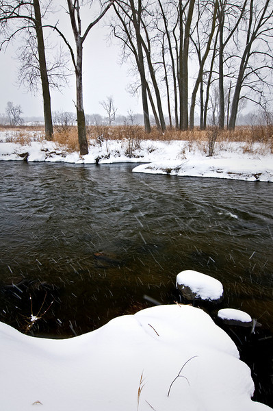 GP 002                  Winter on Nippersink Creek in Glacial Park Conservation Area, McHenry County, Illinois,