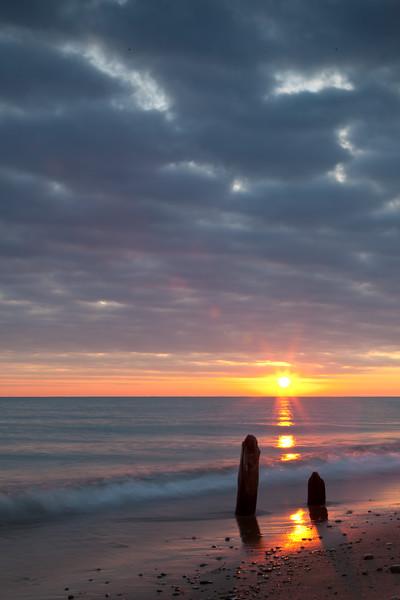 Sunrise at Fort Sheridan Forest Preserve. Highland Park, IL<br /> <br /> IL-091206-0023
