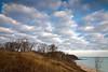 OLP 007                A winter sunrise on the Lake Michigan shore at Openlands Lakeshore Preserve, Fort Sheridan, Illinois.
