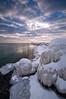 OLP 020                    Shelf ice formations along the Lake Michigan shoreline, Openlands Lakeshore Preserve, Fort Sheridan, IL.