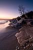 OLP 009                   A winter sunrise on the Lake Michigan shore at Openlands Lakeshore Preserve, Fort Sheridan, Illinois.