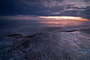 OLP 011                     A winter sunrise on the Lake Michigan shore at Openlands Lakeshore Preserve, Fort Sheridan, Illinois.