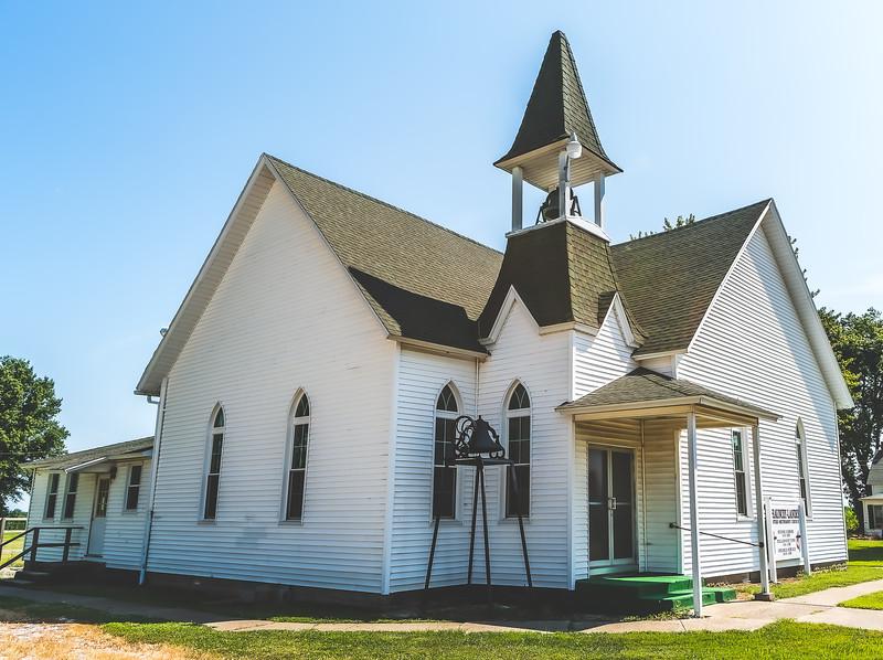 Chauncy-Landes United Methodist Church in Allendale Illinois
