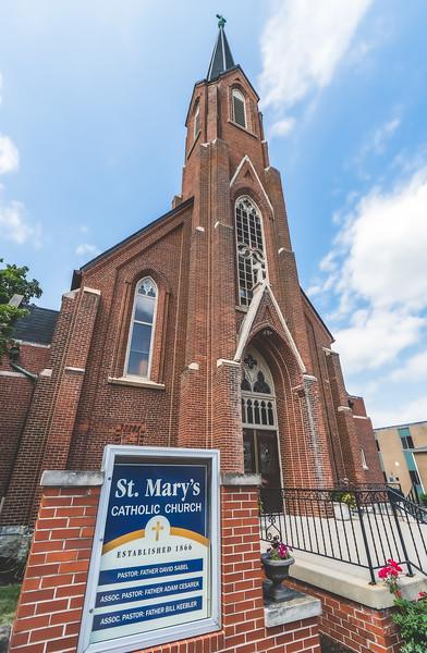 Saint Mary's Catholic Church in Pontiac Illinois