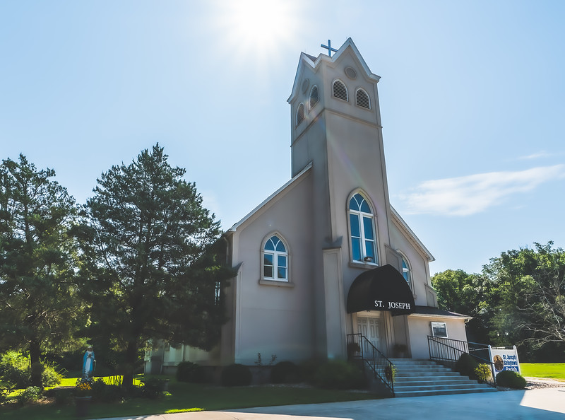 Saint Joseph Catholic Church of Stringtown in Olney Illinois