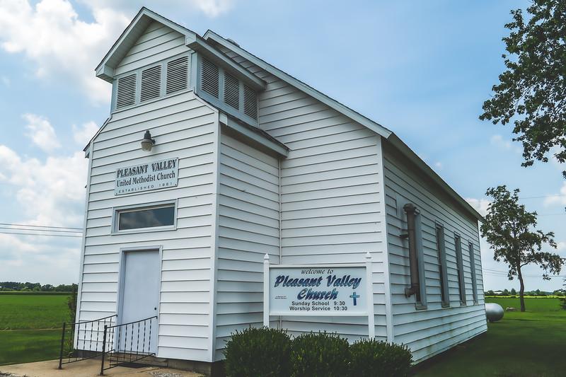 Pleasant Valley United Methodist Church in Casey Illinois