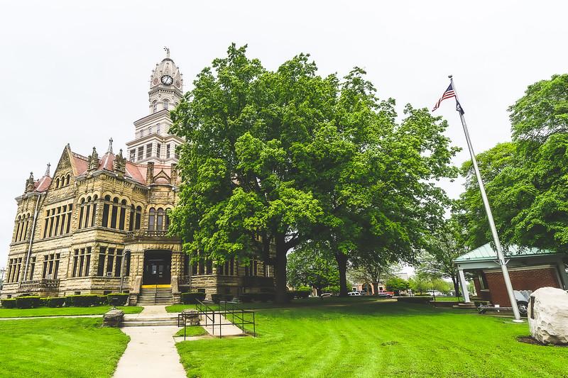 Edgar County Illinois Courthouse in Paris