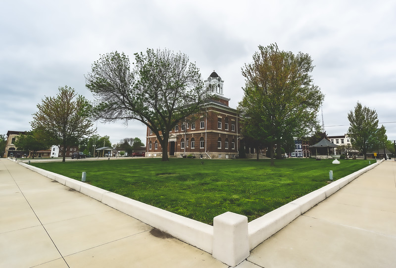 Clark County Illinois Courthouse in Marshall