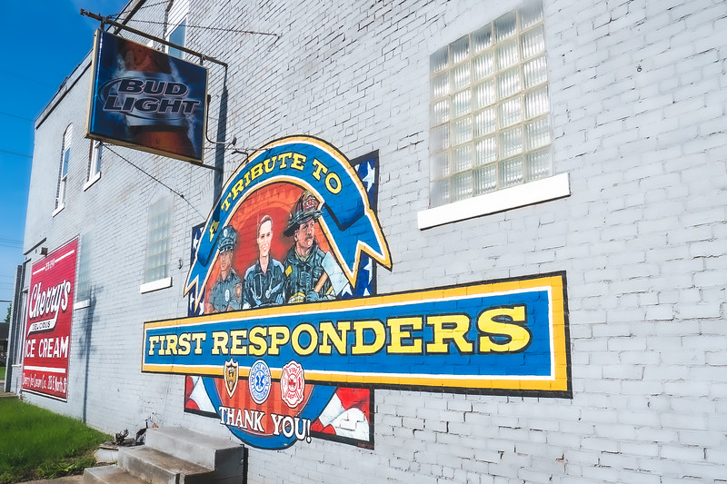 A Tribute to the First Responders Mural in Danville Illinois