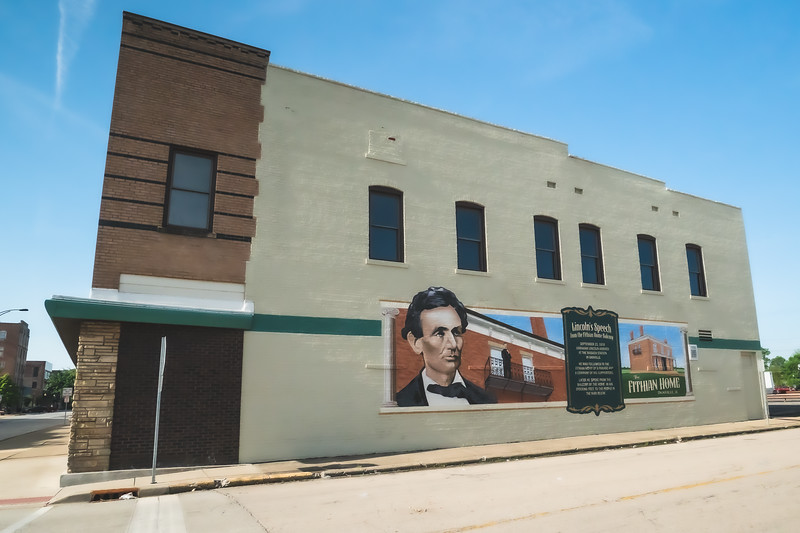 Lincoln at Fithian Home Mural in Danville Illinois