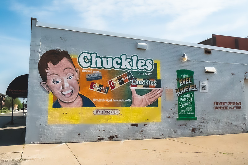 Chuckles Mural in Danville Illinois