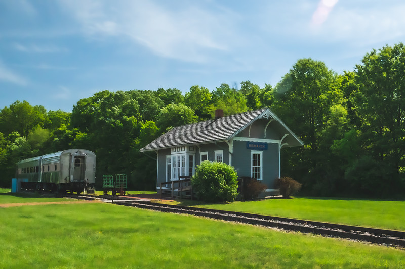 Bismarck Train Depot and O'Leary's Dining Car within Kennekuk County Park in Vermilion County Illinois