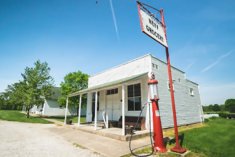 Neff Grocery Store within Kennekuk County Park in Vermilion County Illinois