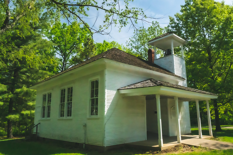 Red Oak School within Kennekuk County Park in Vermilion County Illinois