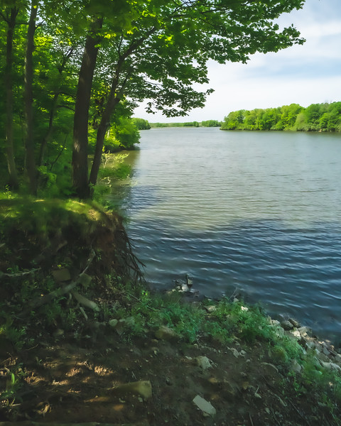 View of Lake Mingo from Mallard Point within Kennekuk County Park in Vermilion County Illinois