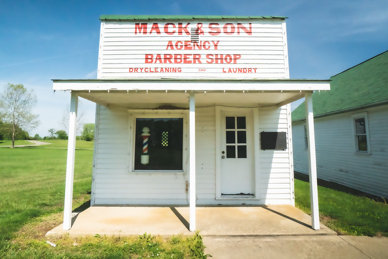 Mack and Son Barber Shop within Kennekuk County Park in Vermilion County Illinois