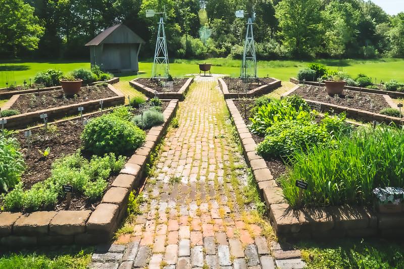 Herb Garden at Kennekuk County Park in Vermilion County Illinois
