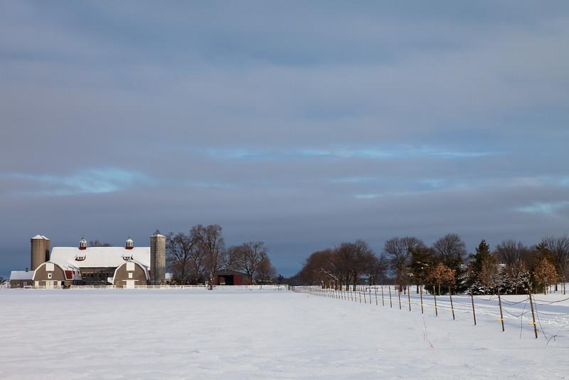 Moosehart Farm winter scene. Batavia, IL<br /> <br /> IL-101226-0041