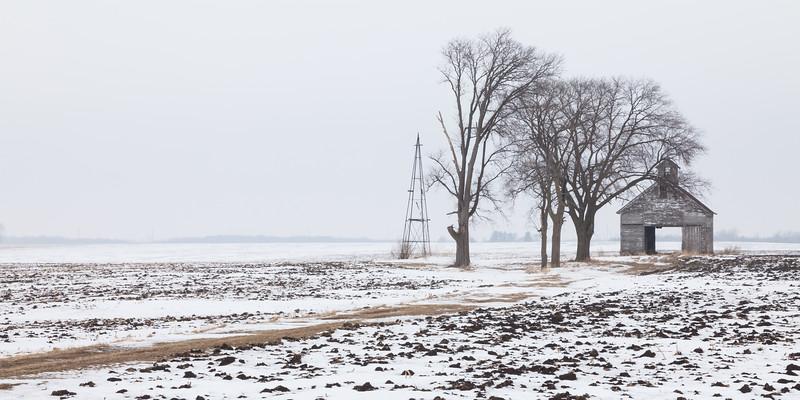 Oglesby farm in winter. Oglesby, IL<br /> <br /> IL-100116-0076