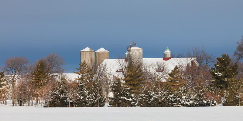 Moosehart Farm winter scene. Batavia, IL<br /> <br /> IL-101226-0052