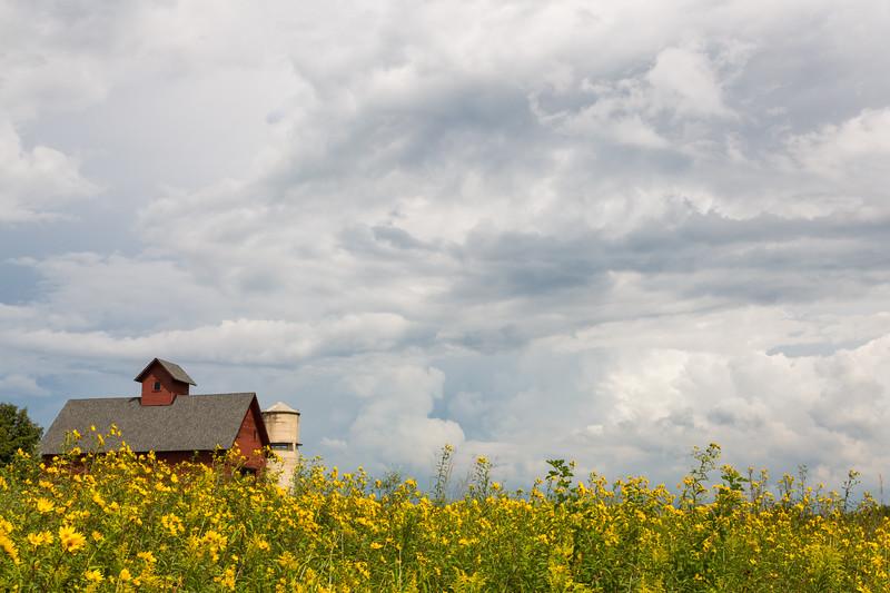 Storm clouds over Peck's Farm barn. Geneva, IL<br /> <br /> IL-180903-0031