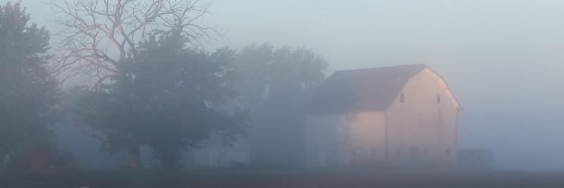 Barn in the Fog I