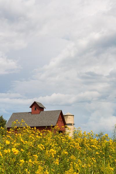 Storm clouds over Peck's Farm barn. Geneva, IL<br /> <br /> IL-180903-0040