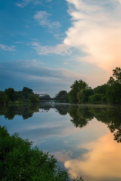 Fox River Sunset Reflection